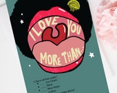 I Love You Card and Anniversary Card, Printable I love you more than card, Digital download card
