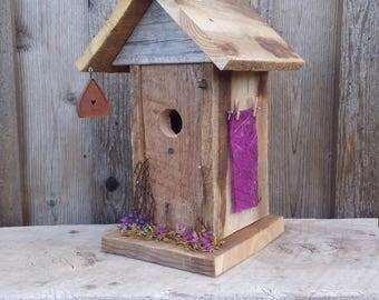 Western Barnwood Birdhouse, Unique Country Birdhouses, Rustic Garden Birdhouse, Whimsical Birdhouse, Decorative Barnwood Birdhouse