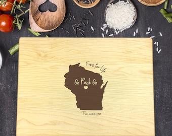 Greenbay Packers Gift, Packers Cutting Board, Personalized Cutting Board, State Cutting Board, New Home Gift, Housewarming Gift, B-0016 Rec