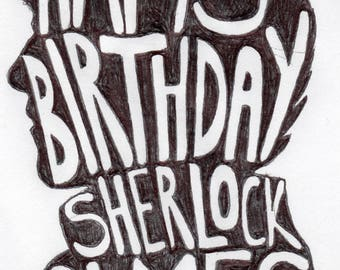 Happy Birthday Sherlock Holmes [PHOTO PRINT]