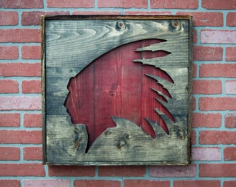 Native American Art / Native American Headdress / Native American Wall Art / Indian Wall Art / Indian Art /