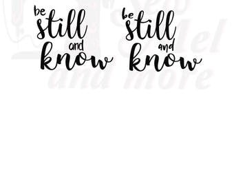 Be still and know (5) svg dxf and png files