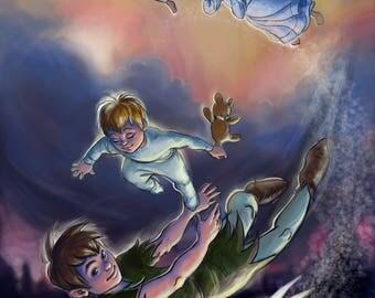 Peter Pan's Flight Print