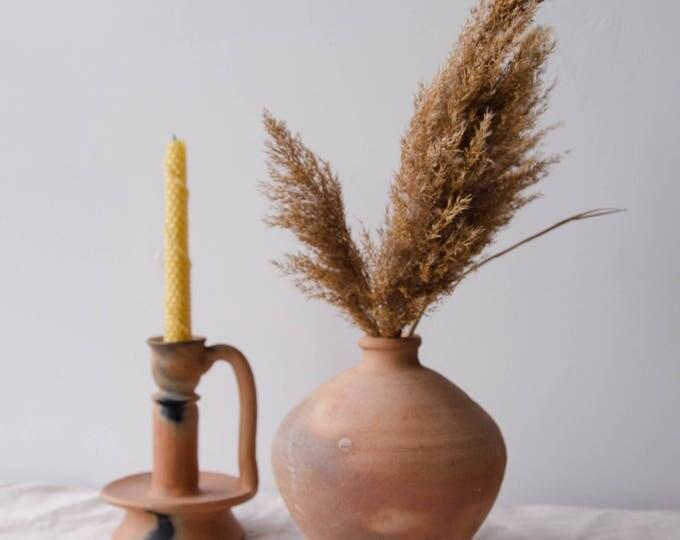 Vintage ceramic flower vase, vintage pottery.