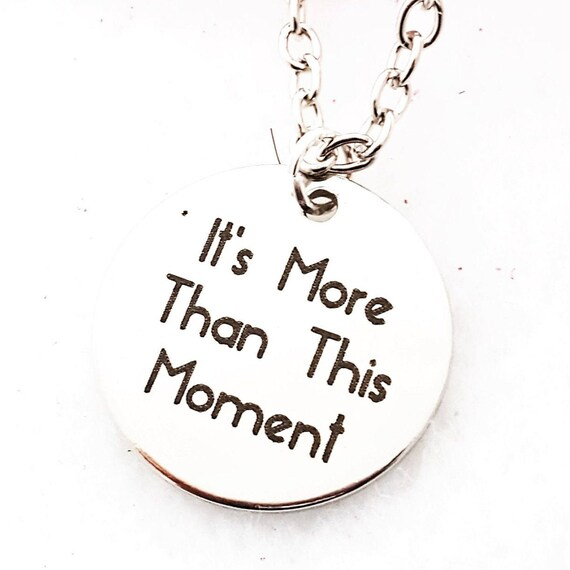 Fitness Gifts, CrossFit Gifts, Triathlon Marathon Jewelry, It's More Than This Moment Necklace, Inspirational Motivational Quotes, Team Gift