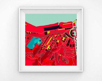 San francisco map, San Francisco map print, San Francisco map art, map print, map art, map decor, map gift, City map,office wall art