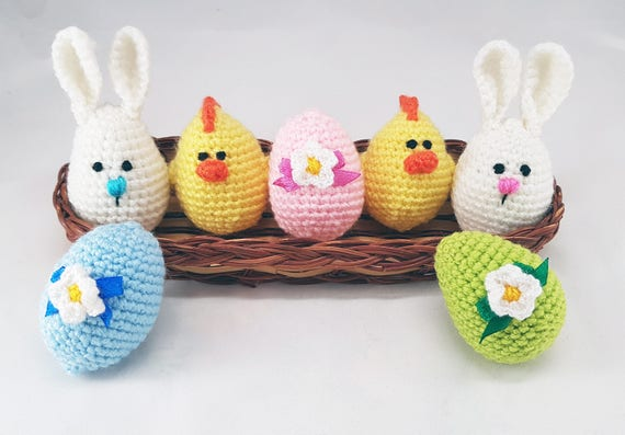 Easter stuffers easter eggs crochet eggs easter gifts bunny like this item negle Images
