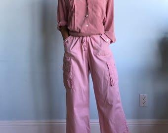 Vintage sz M pink cargo pants
