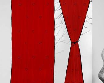 1 pcs tie top curtain window curtain panels custom curtain panels curtain