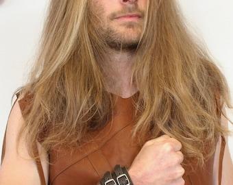 Bracelet of strength; wrist strength; leather strap. strength Brown bracelet