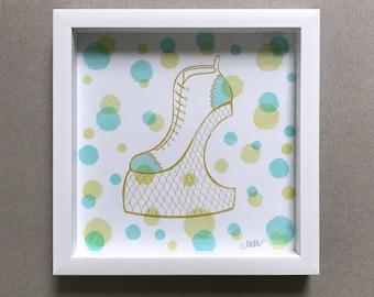 Funky Platform Shoe Art Print