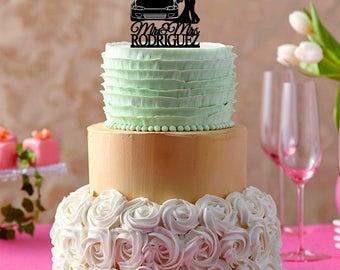 Car wedding cake topper | Etsy