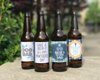 Dog Dad Father's Day Beer Labels Printable