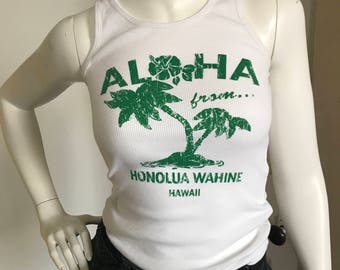 Aloha from Hawaii ribbed tank top
