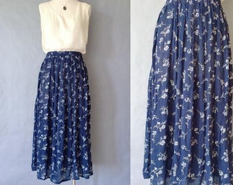 20% off using coupon! vintage floral maxi skirt minimalism women's size S/M