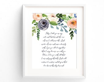 Wedding Vows Print - Wedding Vow Art - Wedding Vow Keepsake - First Anniversary Gift -  Paper Anniversary Gift - Wedding Gift - Wedding Vows
