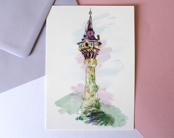 Rapunzel Tower postcard