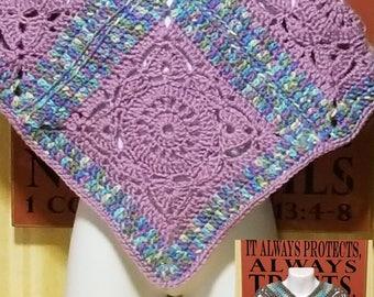 Crochet girls poncho