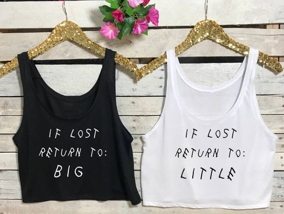 Big Little Reveal Shirts - IF Lost Return to Big, Women's Flowy Boxy Tank top, If Lost return to Little, Sorority Big Little T Shirt Shirt,