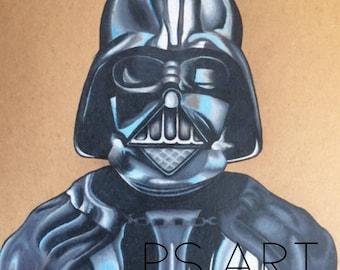ORIGINAL Darth Vader Prismacolour Pencil Drawing