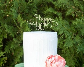 90th birthday party,90th birthday cake topper, ninetieth birthday decorations, 90th birthday decorations,ninety cake topper, 90 party decor