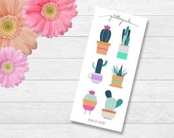 Illustration Design Cactus Stickers
