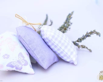 Set of 3 organic lavender sachet