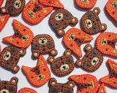 Animal Buttons - Embroide...