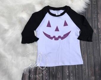 Girls Halloween Shirt - Halloween Pumpkin Shirt - Halloween Shirt - Girls Halloween Outfit - Halloween Tee - Trick or Treat Shirt