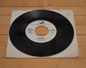 1976 George Harrison This Song and Learning How To Love You 45 rpm Vinyl Record