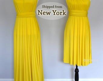 Yellow Bridesmaid dress,convertible dress, infinity dress, convertible dres, spring dress