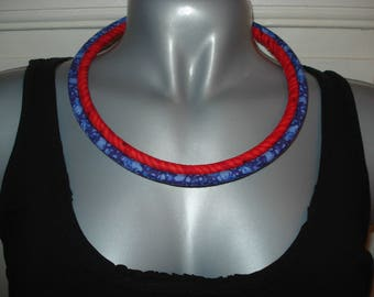 Necklace 2 strands of fabric