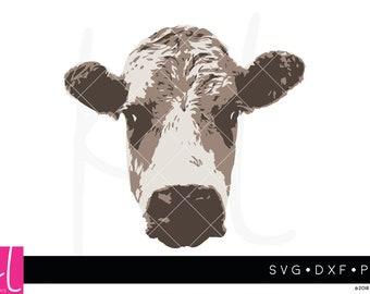 Cow svg, Cow Face svg, Heifer svg, Farm svg, Farm Animal svg, Animal svg, Farmhouse svg, svg files for Cricut, files for Silhouette