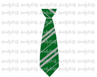 Slytherin Tie  - Instant Files - Studio3 & SVG Files - Silhouette Cricut Files