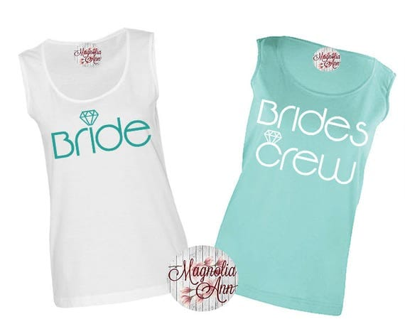 Bride's Crew, Bridal Party, Bachelorette Party, Bridesmaid, Wedding, Women's Premium Jersey Tank Top Sizes Sm-4X, Plus Size, Lots of Colors