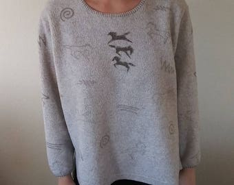 Vintage Tribal Horse Sweater