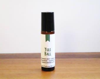 YULE BALL / Orange Zest Cedar Cinnamon Clove Bud Sandalwood & Fir / Book Inspired / Harry Potter Collection / Roll-On Perfume Oil