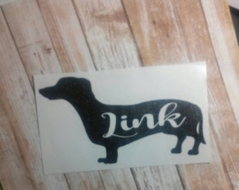 Dachshund Decal/  Dachshund Monogram/Weenie Dog Monogram/Name Monogram/ Monogram/Decal/ Vinyl Decal/Dog Decal/ Pet Lovers Decal/YETI/HTV