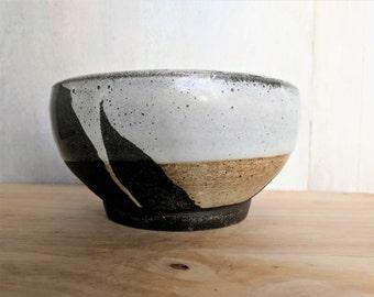 Ceramic White Bowl, Matte White Large Cereal Bowl, Stoneware Bowl, Handmade Pottery Bowl, Ceramic Soup Bowl