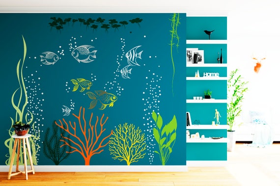 Under the sea wall decals high def pictures
