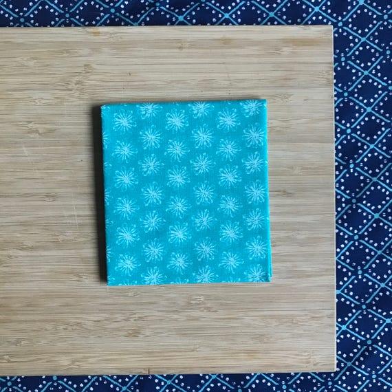 """Premium Cotton Fabric Fat Quarter - Designer Fabric - Quilting Fabric - Fat Quarters 18"""" x 21"""" Turquoise Sunburst Print"""