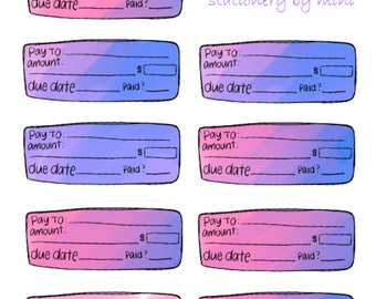 Pay Bills: Cheques - Functional Bill Payment Planner Sticker