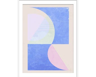 Colourful Children's Art Print, Blue Abstract Art Print, Pink Abstract Art Print, Children's Art, Wall Decor, Nursery Wall Art,
