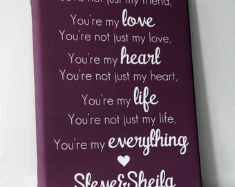 Personalised valentines day anniversary gift love quote poem for girlfriend handmade boyfriend keepsake wife present husband
