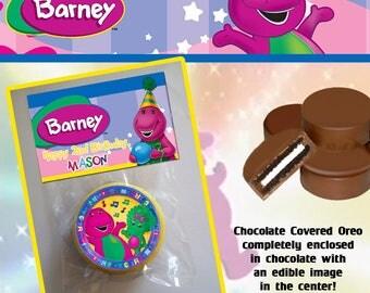 Barney Chocolate Covered Oreo