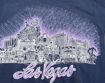 Vintage 80's / 90's Las Vegas, Nevada Skyline / Casinos / Party Time t-shirt