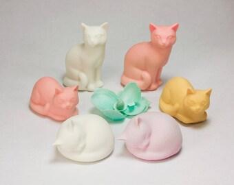Cat Figurine, Cat Sculpture, Ceramic Cat, Pet Memorial, Small Cat, Cat Lover, Cat Lady, Gift for Cat Lover, Sympathy Gift, Pet Loss Gift,Cat