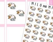 Laptop Lounging Cat Emoji  | Planner Stickers |