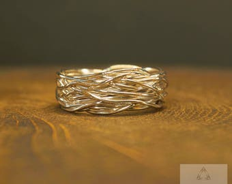 Sterling Silver Wire Ring, Coil Ring, Fused ring, Twisted Ring, Wire Wrapped Ring, Wrapped ring, Wire ring, Trending ring, Oxidized Silver