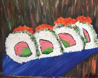 Sushi painting